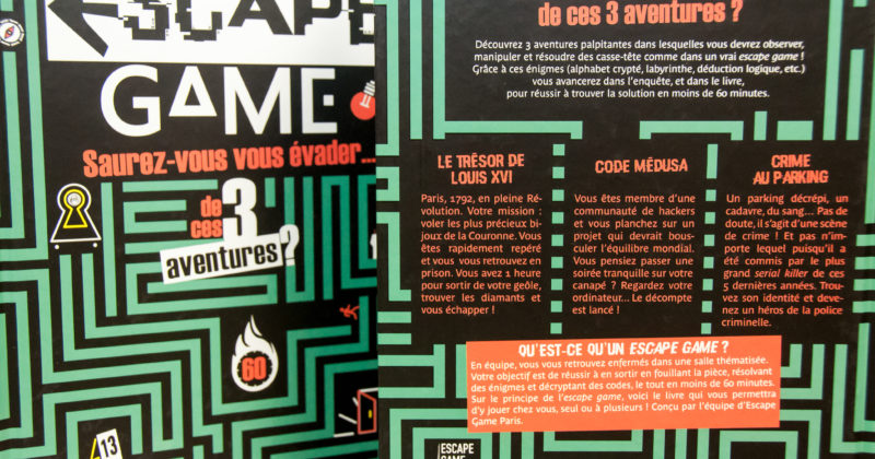 ESCAPE GAME EN LIVRE